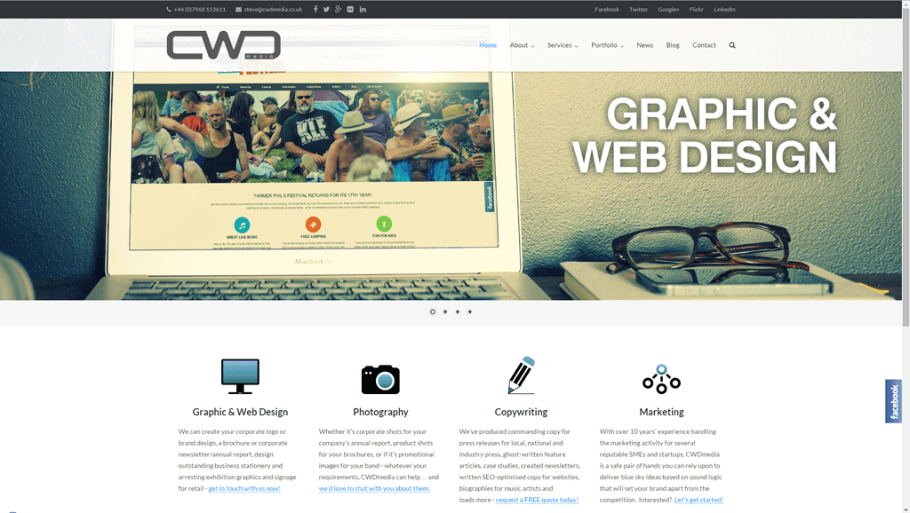 New CWDmedia website for 2015